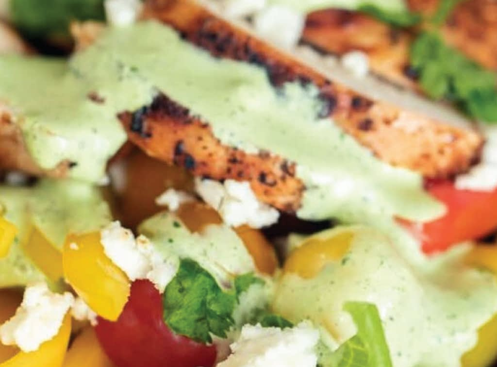 grilled chicken with cottage cheese salad 1.1-01